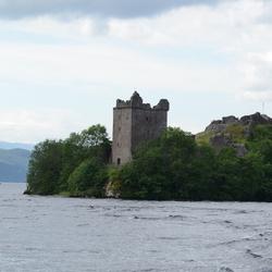 ruïnes van het Urqhart castle