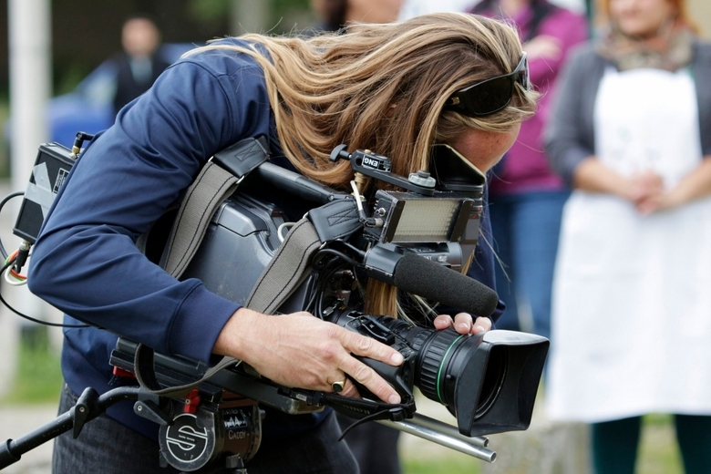 De Cameraman. - De Cameraman bij de opening.