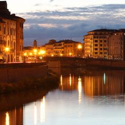 De Arno in de avond