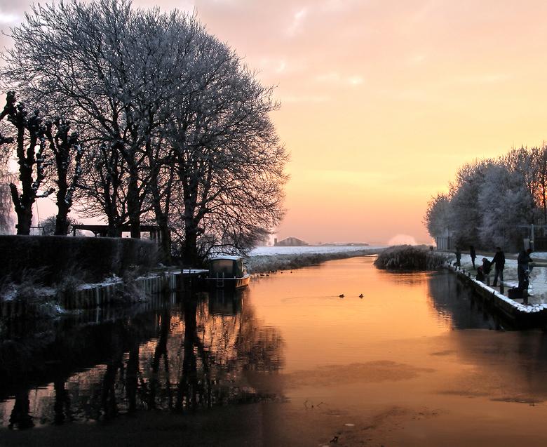 winters - een hele koude winterse dag