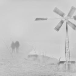 wandeling in de mist