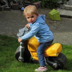 kijk mij op mn motor!