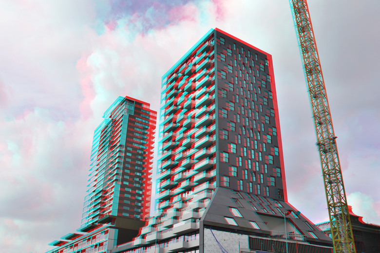 The Muse Wijnhaven Rotterdam 3D anaglyph - The Muse Wijnhaven Rotterdam 3D anaglyph<br /> D7000 cha-cha  18-200 nikkor