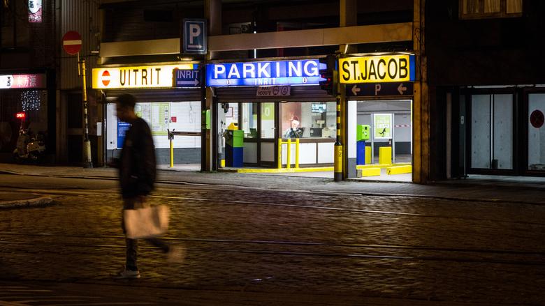 Parkeerwachter - Antwerpen - Parkeerwachter van een parkeerplaats te Antwerpen.