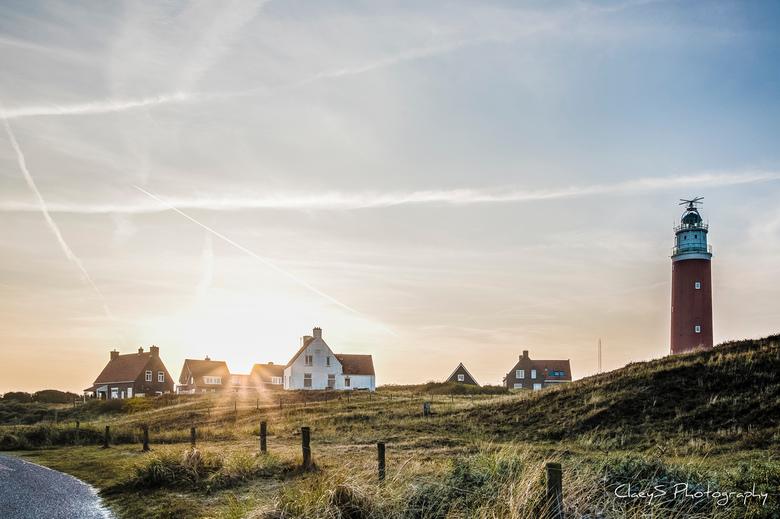 Vuutoren De Cocksdorp, Texel - Zonsondergang nabij de vuurtoren te De Cocksdorp, Texel.