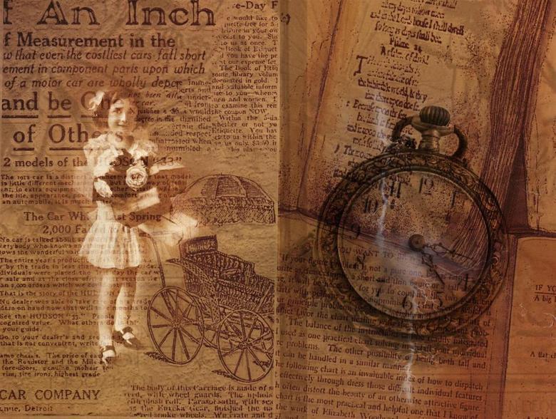 oude tijden - Fotobewerking van een drietal foto's