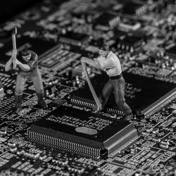 Hackers aan het werk