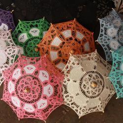 gekleurde parasols