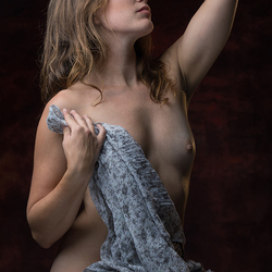 nude with scarf