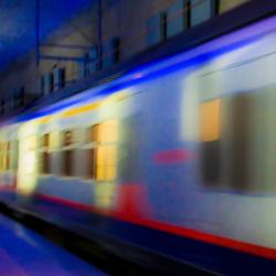 Catch the blue train...