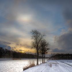 Winter in Vries - bij-zon