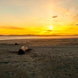 Zonsondergang bij de Pacific Rim