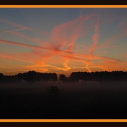 Vlammende zonsopgang