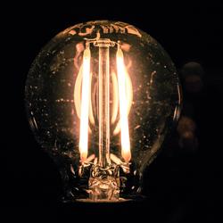 LED bulb en een beetje stof ;-)