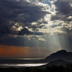 stormlucht boven Kreta