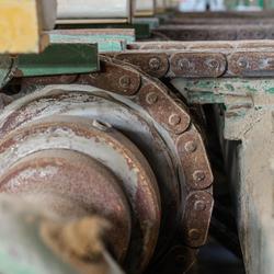 verlaten steenfabriek, aandrijving
