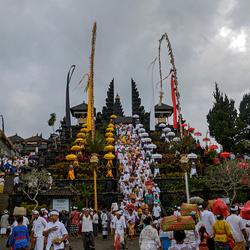 Tempel ceremonie bij Pura Besakih