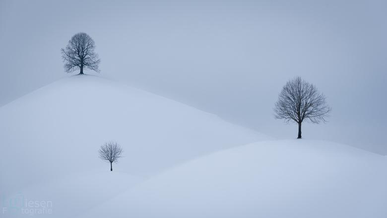"""Neuheim  - De prachtig besneeuwde """"Dumlins"""" in Neuheim, Zwitserland.."""