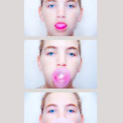 Fotosequentie bubbelgum