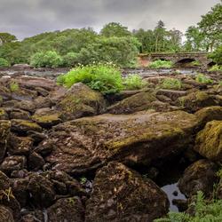 Panorama bij Glencar, Ierland