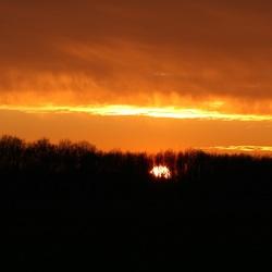 Zonsondergang in Drenthe