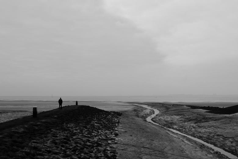 Zeeland - Waarde - Zicht op de getijdenhaven van Waarde, Zeeland.
