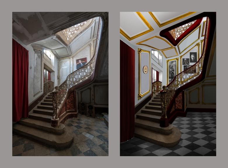 """chateau secession - Dit is een foto van Marianne Besselsen waarmee ik een samenwerk. Zij gaat op reis en maakt de urbex-foto, ik """"restaureer&quot"""