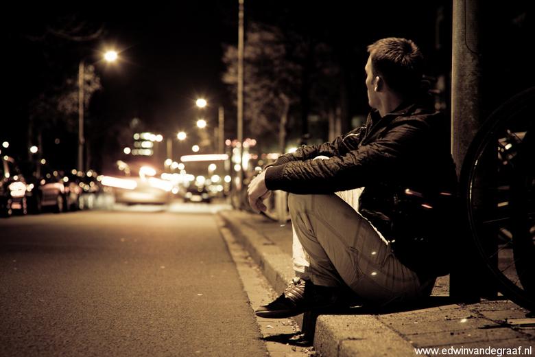 Portretfotograaf Groningen edwinvandegraaf - Een zelfportret van en door Edwin van de Graaf gemaakt op straat in Groningen.<br /> Portretfotograaf, R