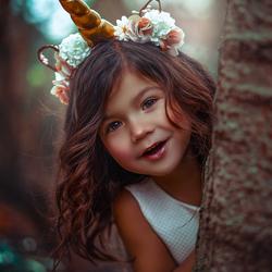 Happy little unicorn