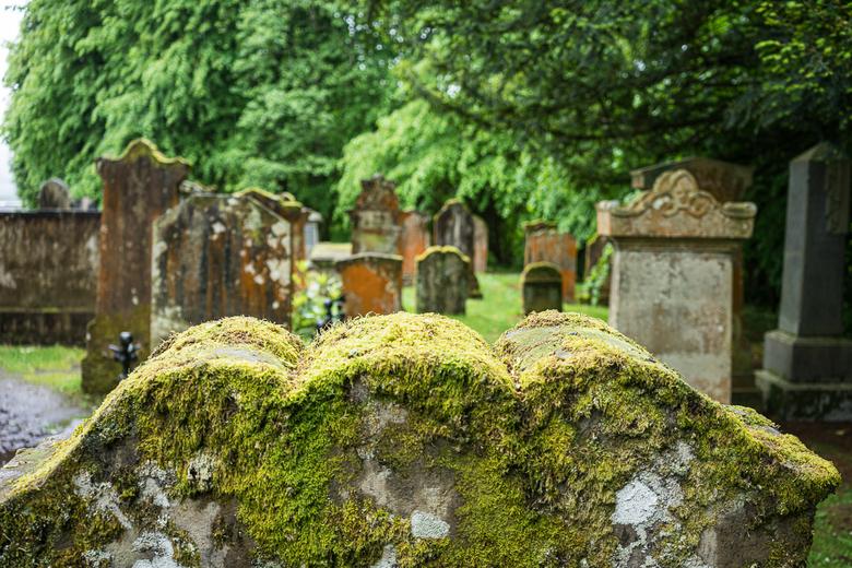 Schotland 21 - Begraafplaats in Luss Schotland