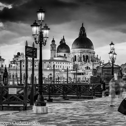 Evening in Venice in black and white