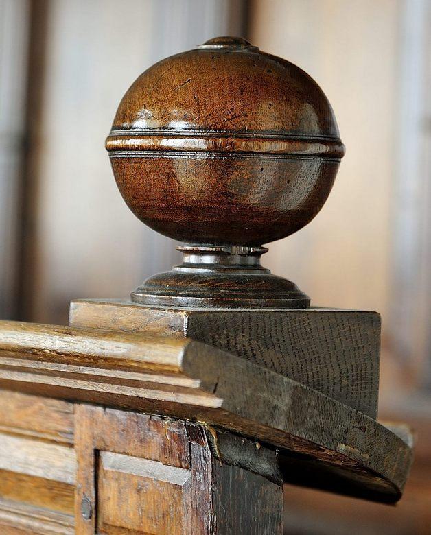Knop - Knop van een kerkbank, gemaakt in de A-kerk