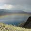 Regenboog in Jotunheimen