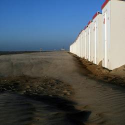 Strandhuisjes in de stilte