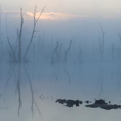 Een mysterieuze zonsopgang in Klazienaveen-Noord op (1-8-2018)