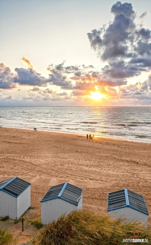 Zonsondergang op het strand van de Koog, Texel.