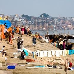 De Ghats van Varanasi