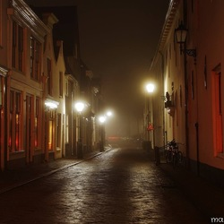 Gouda bij nacht