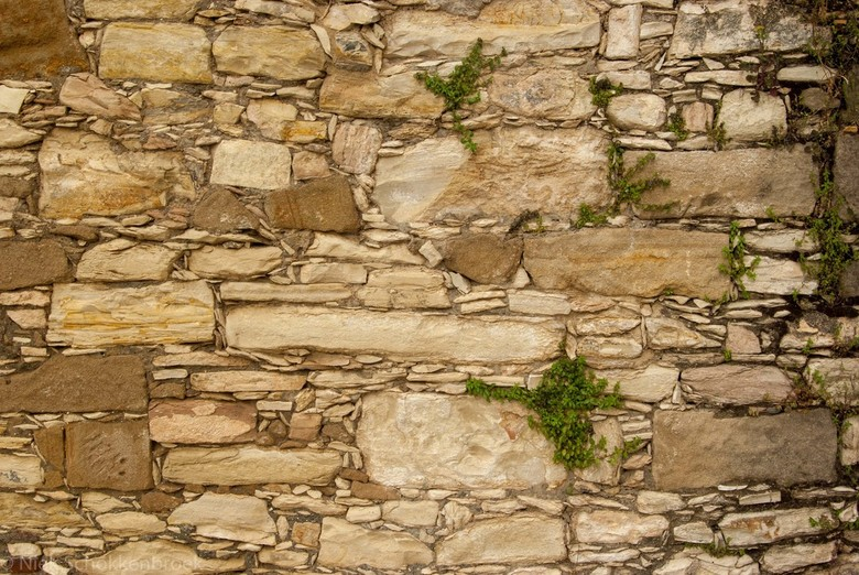 Muur in Cyprus - Details van een muur in een klein dorpje in Cyprus.