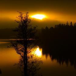 Zonsondergang bij Stockholm