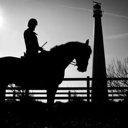 Tessa op haar paard