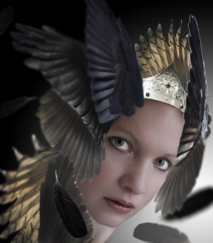 feather queen - bewerking in photoshop. Ik hoor wel wat je vindt.