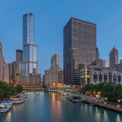 Daybreak Chicago River