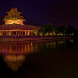 HDR verbodenstad toren in Beijing China