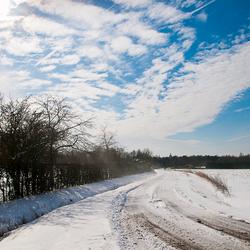 winter blijft in het land.