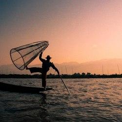 De balancerende visser