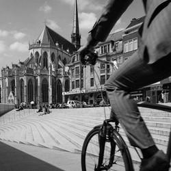 al fietsend door Leuven