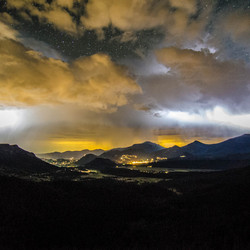 Onweer in Rocky Mountain National Park
