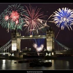 Vuurwerk te London