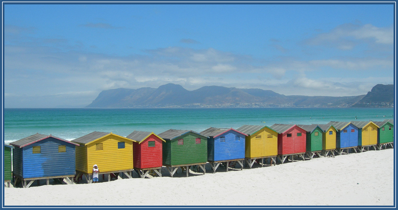 kleurige strandhokjes - foto genomen met Nikon Coolpix 7600